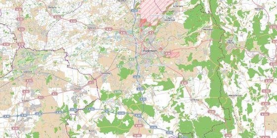 Karte Paderborn.Startseite Paderborn